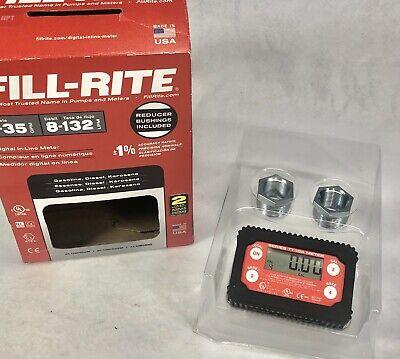 Fill-rite 2-35 Gpm 8-132 Lpm Digital In-line Meter Tt10an-npt