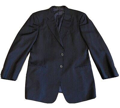 Armani Collezioni Mens Suit 42R Black Dotted Pin 2 Piece 33x30 2 Button