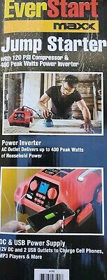 Everstart 1200 Amps LED Light Jump Starter with 120 PSI Compressor Inverter