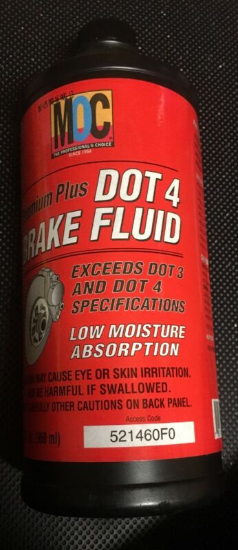 MOC Premium Plus Dot 4 Brake Fluid 32 Fl Oz. Quality Toyota Lexus Fluid