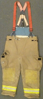 42x28 Pants Firefighter Turnout Bunker Fire Gear Suspenders Fire-dex P940