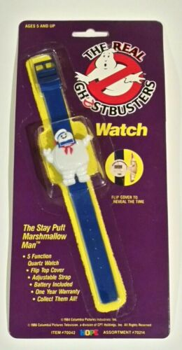 The Real Ghostbusters Stay Puft Marshmallow Man Wrist watch Wristwatch NOS