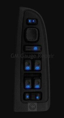 GM Window Switches Blue LED Upgrade Kit for Silverado Tahoe Escalade 2003-2006