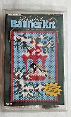 The Beadery Beaded Banner Kit 5284 Bird Feeder Craft Project Beads NEW NIB