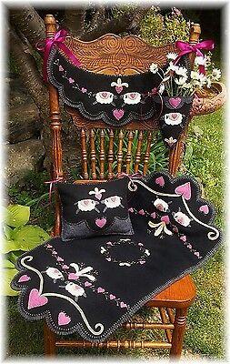PATTERN~*My Heart Belongs To Ewe*~ Sheep Runner, Chair swag,