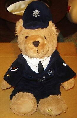 HARRODS POLICEMAN BOBBY PLUSH STUFFED ANIMAL BRITISH TEDDY BEAR 13 INCH