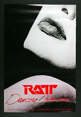 RATT Dancing Undercover 1986 New Album Promo Poster 24 x 36