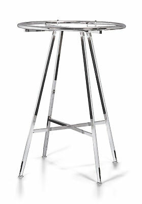 Chrome 36 Round Clothing Rack Height 48 - 72 H Leveler Glides Garment