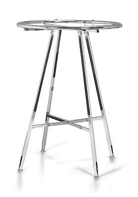 Chrome 36 Round Clothing Rack Height 48 - 72 H Leveler Glides Garment