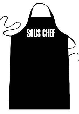 Sous Chef Apron - Funny Chefs Cooking Apron (Sous Chef) Novelty Unisex Gift