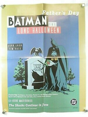 1997 BATMAN DC Comic Promo Poster (17 x 22) Long Halloween, Double-Sided](Halloween Promo Poster)