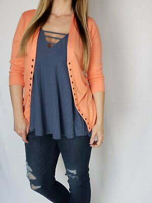 best boutique Coral snap front cardigan (cardigan