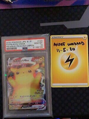 Astonishing Volt Tackle Pikachu VMAX Promo 123/S-P PSA 10! Gem Mint! NO RESERVE!