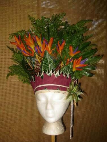 Tahitian Tropical Headdress   Cook & Society Islands   Ethnic Costume Islander