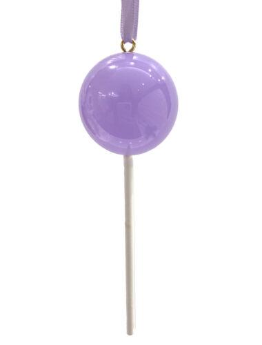 OPAQUE Pale Purple Candy Lollipop Christmas Ornament Pick Prop Spring Easter