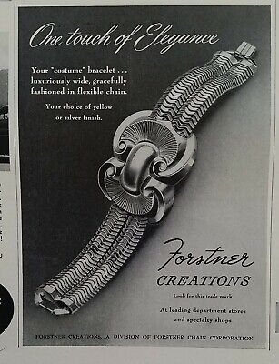 1948 Forstner corporation Creations costume bracelet vintage jewelry ad
