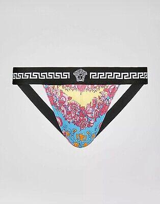Versace Men's Luxe Multicolour Floral Print Jockstrap Underwear Thong 5 IT / L