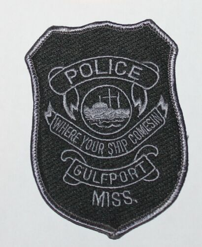 GULFPORT POLICE Subdued Tactical SWATMS Miss PD patch
