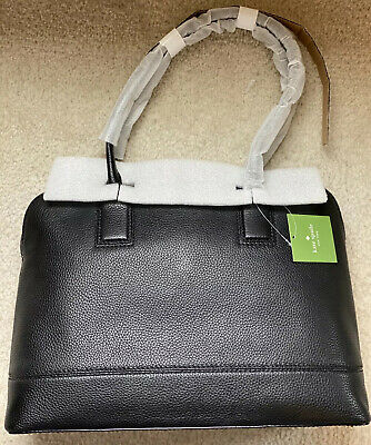 NEW Kate Spade Young Lane Marybeth Black Leather Work Tote Bag Laptop PXRU7944