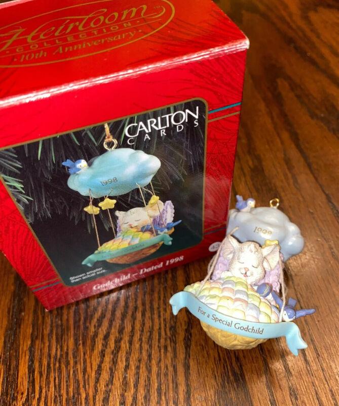 1998 Carlton Cards Heirloom Collection Godchild Christmas Ornament #43