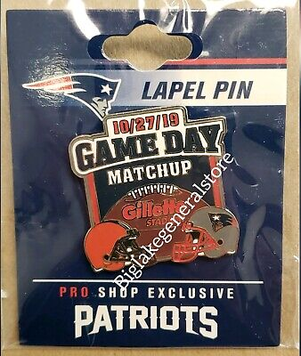 Cleveland Brown VS New England Patriots 10/27/19 Game Day Pin FREE SHIPPING