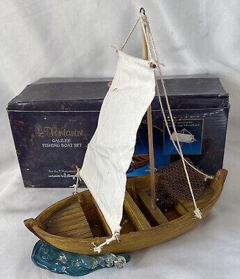 "Fontanini Nativity ~ GALILEE FISHING BOAT SET #55503 ~ For 5"" Nativity IN BOX"