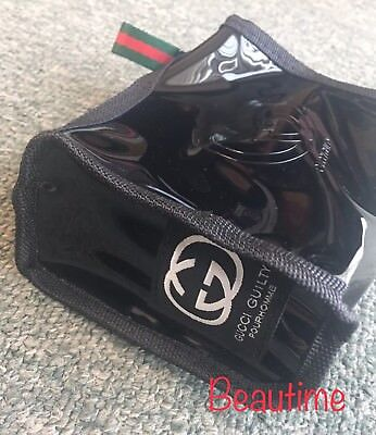 GUCCI Guilty Black Patent Water Proof Cosmetic Pouch Beauty Clutch Bag Small New