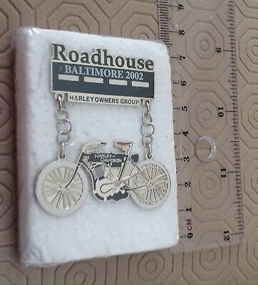 Rare Harley -Davidson 100th Anniversary Baltimore roadhouse 2002 Pin New