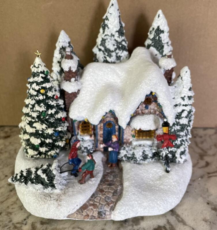 Thomas Kinkade Country Christmas Homecoming Village House Teleflora 2015