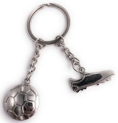 Fußball Schuh mit Ball Sport Anhänger Schlüsselanhänger aus Metall