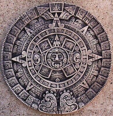 Maya Aztec Wall Calendar Cast Stone Antique Look Garden New Frost Resistant 2533