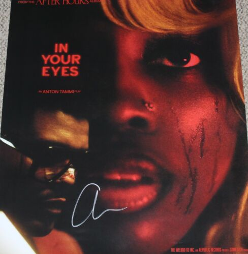THE WEEKND SIGNED AFTER HOURS IN YOUR EYES 24x30 POSTER w/COA ALBUM ABEL TESFAYE