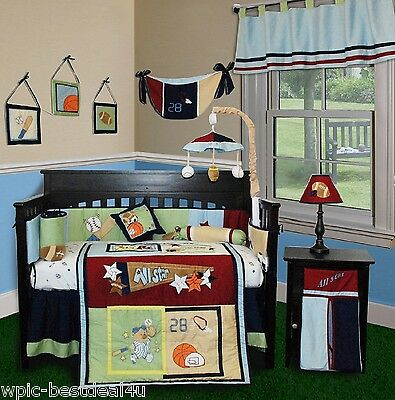 Baby Boutique - All Star - 13 pcs Crib Bedding Set All Star Sports Bedding