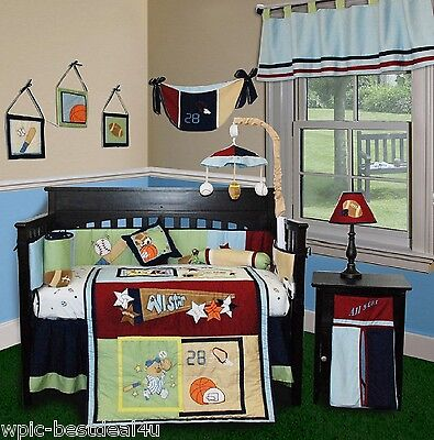 Baby Boutique - All Star - 14 pcs Crib Bedding Set incl. Music Mobile All Star Sports Bedding