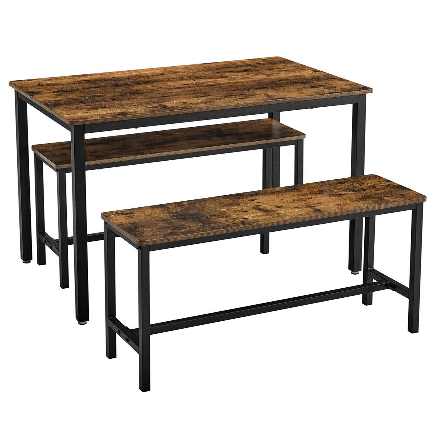 Esstisch Küchentisch Set mit 2 Bänken Esszimmertisch