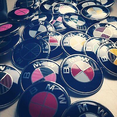 BMW Emblem Overlay Sticker Decal - Fits Hood, Trunk, Wheels, Steering Wheel