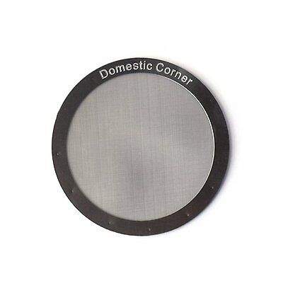Domestic Corner   Reusable Stainless Steel Filter For Aeropress Coffee And Espre
