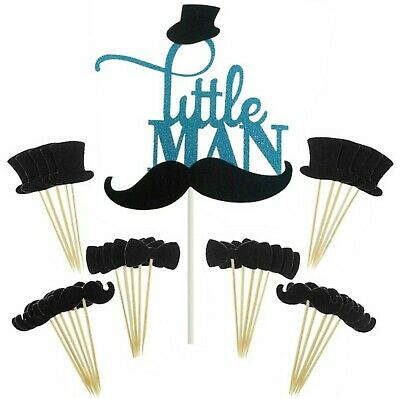 Little Man Party Supplies (Little Man gentleman party supplies kit cake and cupcake toppers)