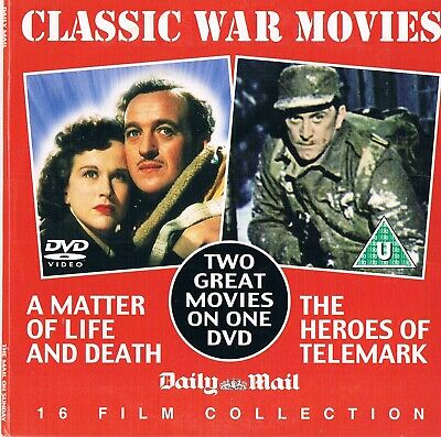 A Matter of Life and Death (1946) & The Heroes of Telemark (1965)  DVD N/Paper