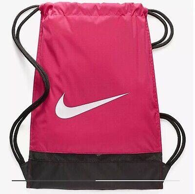 eb3f998351131 Nike Brasilia Training Gymsack Pink Black White (Womens Gym Bag) BNWT UK