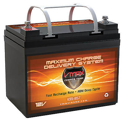Vmax Mb857-35 12v Agm Group U1maint Free Battery Solar Wind Deep Cycle