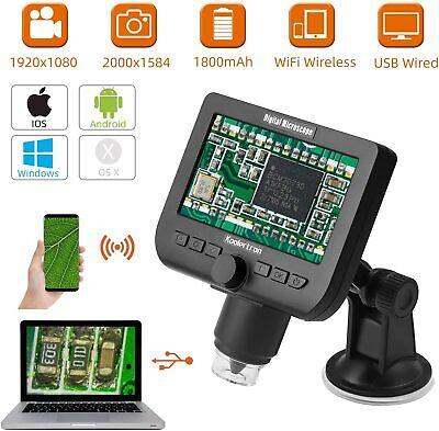 Wifi Wireless Lcd Digital Usb Microscope4.3 Inch 1080p Camera Magnifier 1000x
