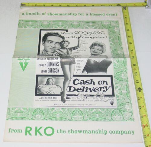 CASH ON DELIVERY 1956 RKO Movie Pressbook COMPLETE Shelley Winters John Gregson