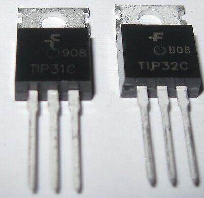 1 X Tip32c Tip32 Pnp And 1x Tip31c Npn Transistors 3a 100v To-220 Us Seller