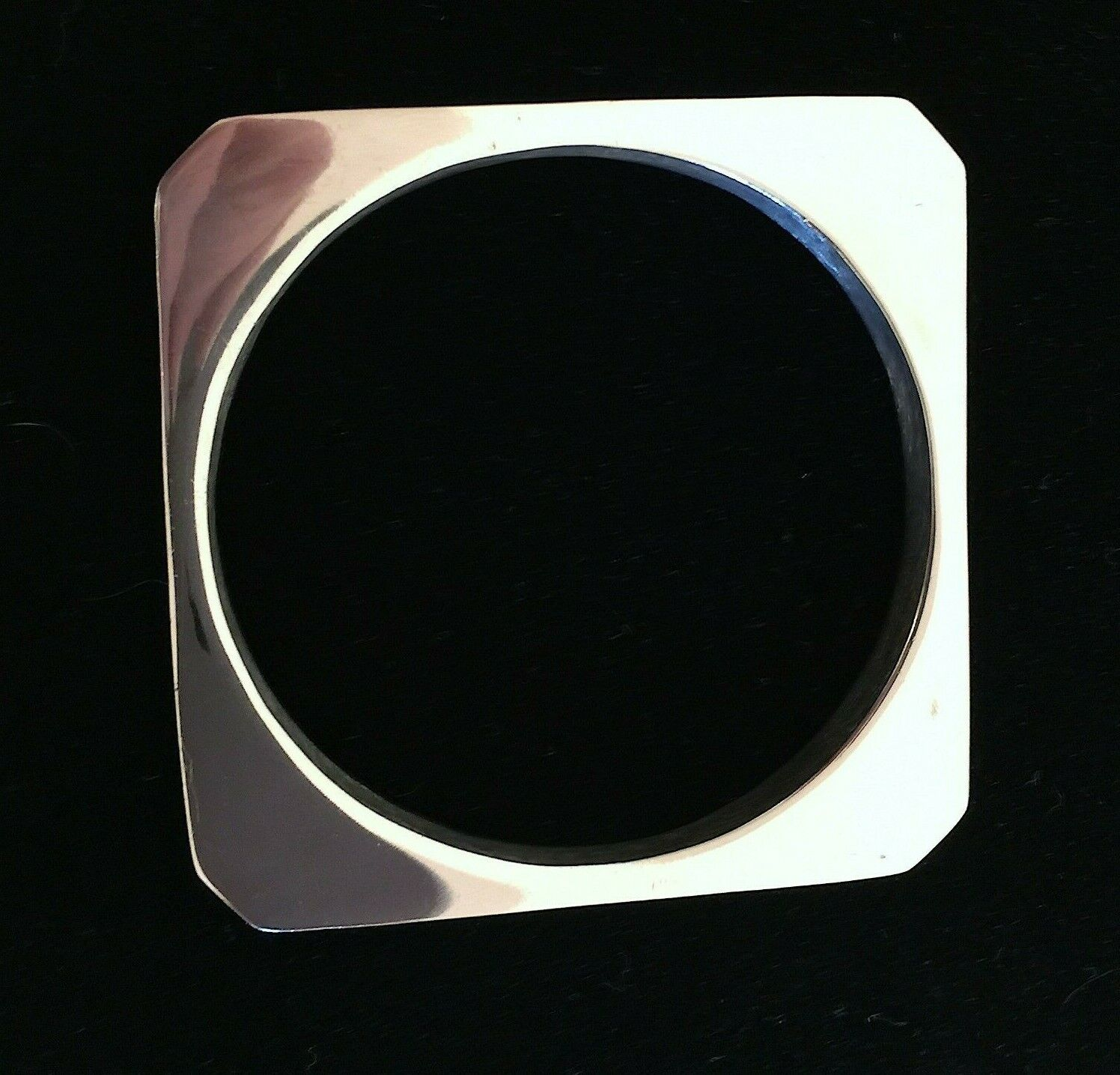 Vtg Taxco Mexico Sterling Silver Squared Round Bangle Bracelet Jewelry, 37.8 G - $150.00