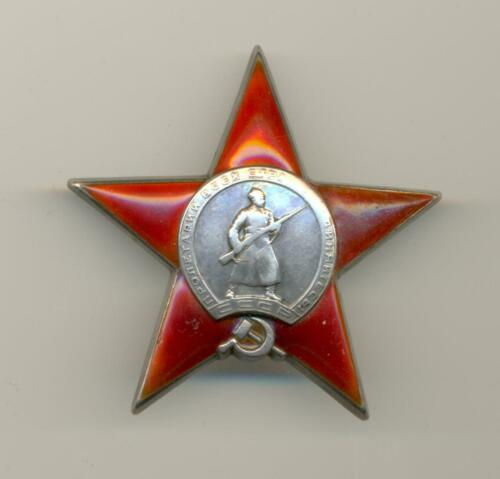 Soviet Russian USSR Researched Order of the Red Star #4852 for Hasan