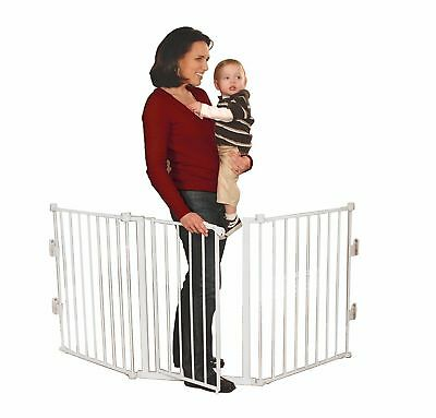 "Regalo 1175 Flexi-Gate 76"" Super Wide Durable Adjustable Metal Walk-Through Gate"