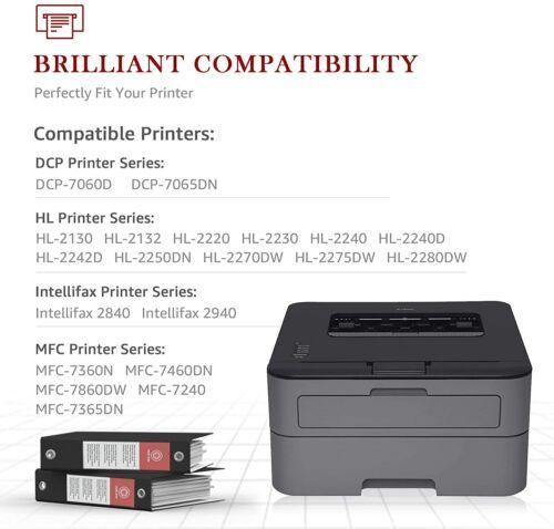 4PK High Yield for Brother TN450 Toner Cartridge MFC-7860DW 7360N HL-2240 2270DW