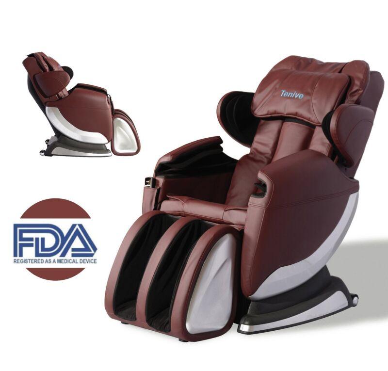 Roller Shiatsu Full Body Massage Chair Recliner Heat Vibration Soft Zero Gravity