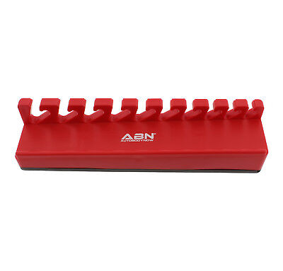 """ABN Magnetic 3/8–15/16"""" SAE 10–19mm Metric Wrench Organizer Tray"""